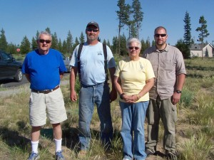 Bob Vogel, Steve Krebs, Chris and Scott Riggs at end of Thrivant Project